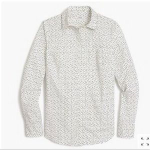 J Crew Factory Star Print Button Down Shirt